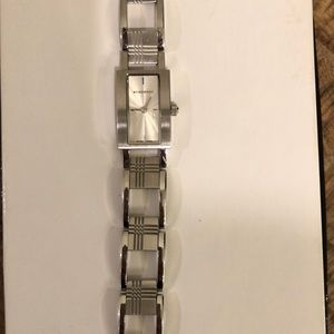 Burberry stainless steel check pattern watch